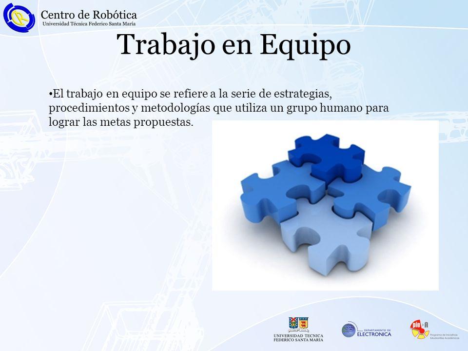 Trabajo en Equipo El trabajo en equipo se refiere a la serie de estrategias, procedimientos y metodologías que utiliza un grupo humano para lograr las