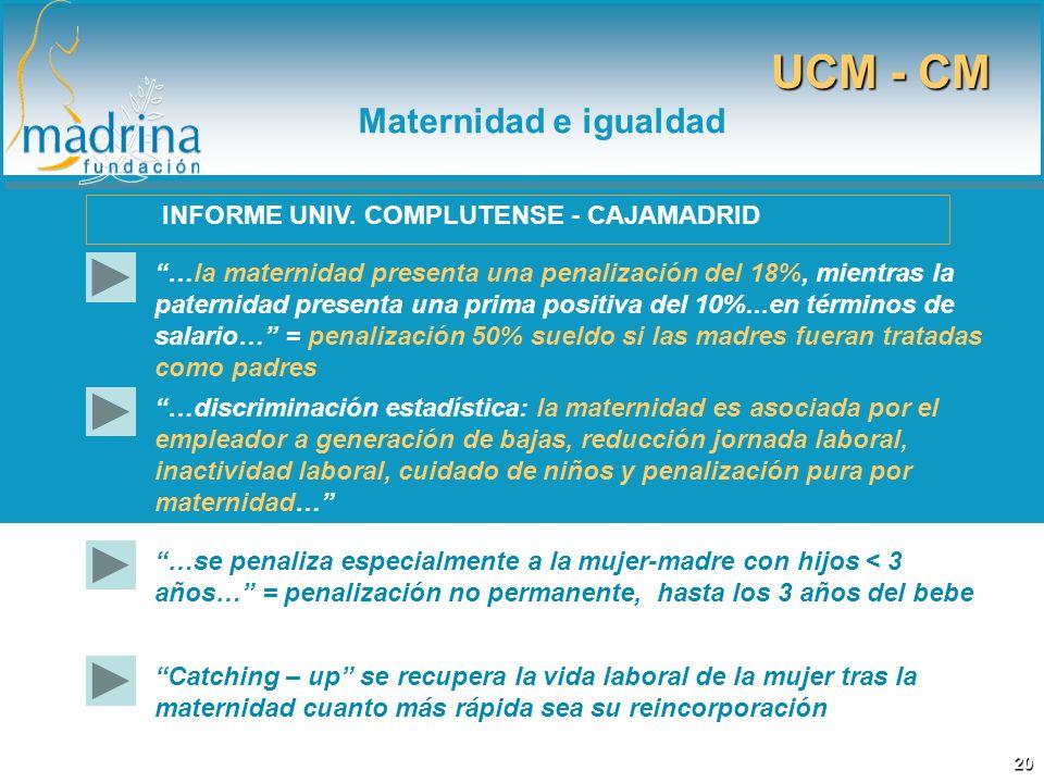 …la maternidad presenta una penalización del 18%, mientras la paternidad presenta una prima positiva del 10%...en términos de salario… = penalización