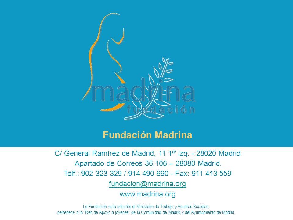 C/ General Ramírez de Madrid, 11 1º izq.- 28020 Madrid Apartado de Correos 36.106 – 28080 Madrid.