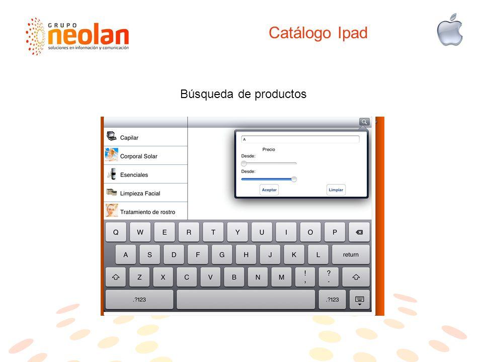 Catálogo Ipad Búsqueda de productos