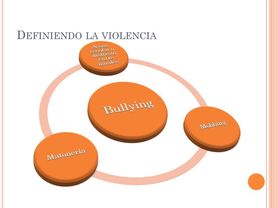 D EFINIENDO LA VIOLENCIA