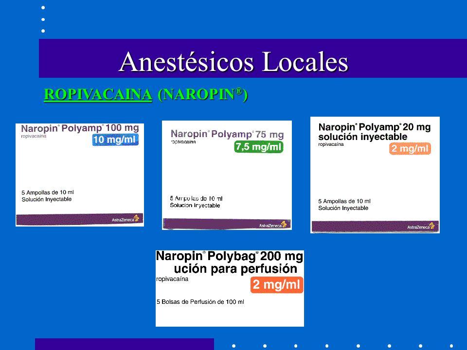 Anestésicos Locales ROPIVACAINA (NAROPIN ® )