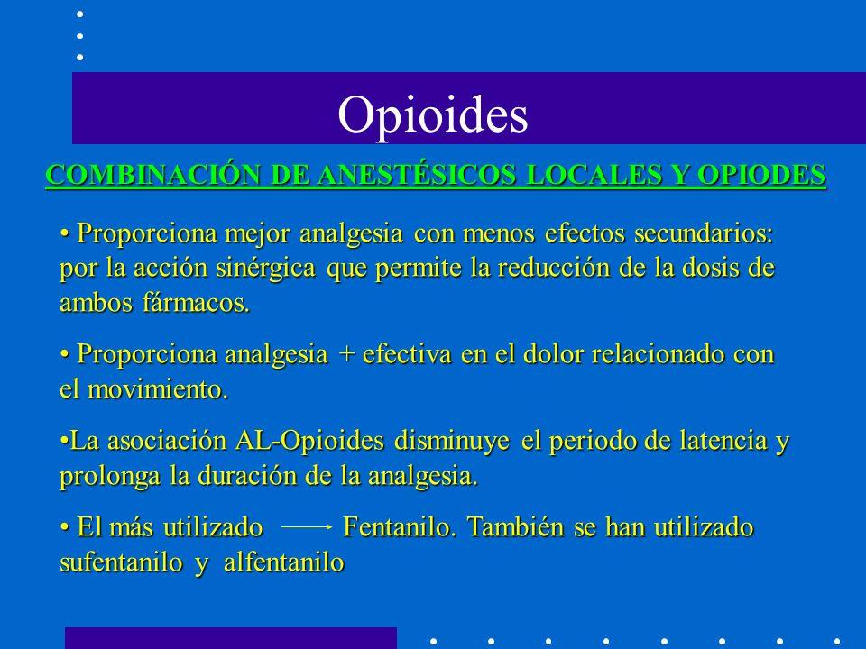 Proporciona mejor analgesia con menos efectos secundarios: por la acción sinérgica que permite la reducción de la dosis de ambos fármacos.
