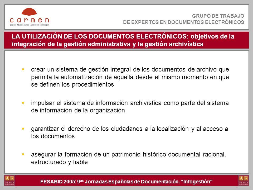 FESABID 2005: 9 as Jornadas Españolas de Documentación.