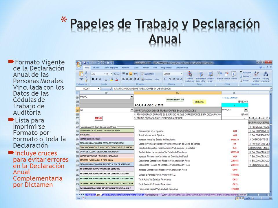Donataria y Declaración Anual. Lista Para Imprimirse Incluye los Cruces mas Comunes Lista para el SAT y la Toma de Decisiones Financieras.