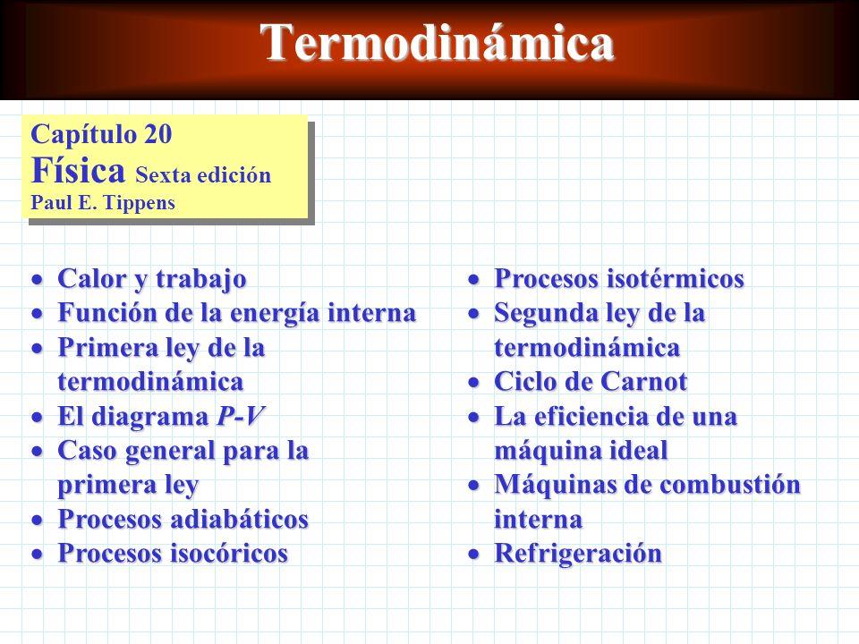 Termodinámica Capítulo 20 Física Sexta edición Paul E.