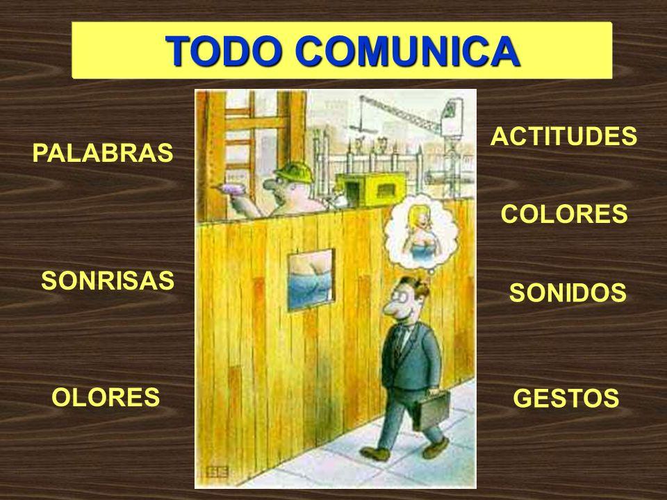 TODO COMUNICA PALABRAS GESTOS SONRISAS SONIDOS OLORES COLORES ACTITUDES