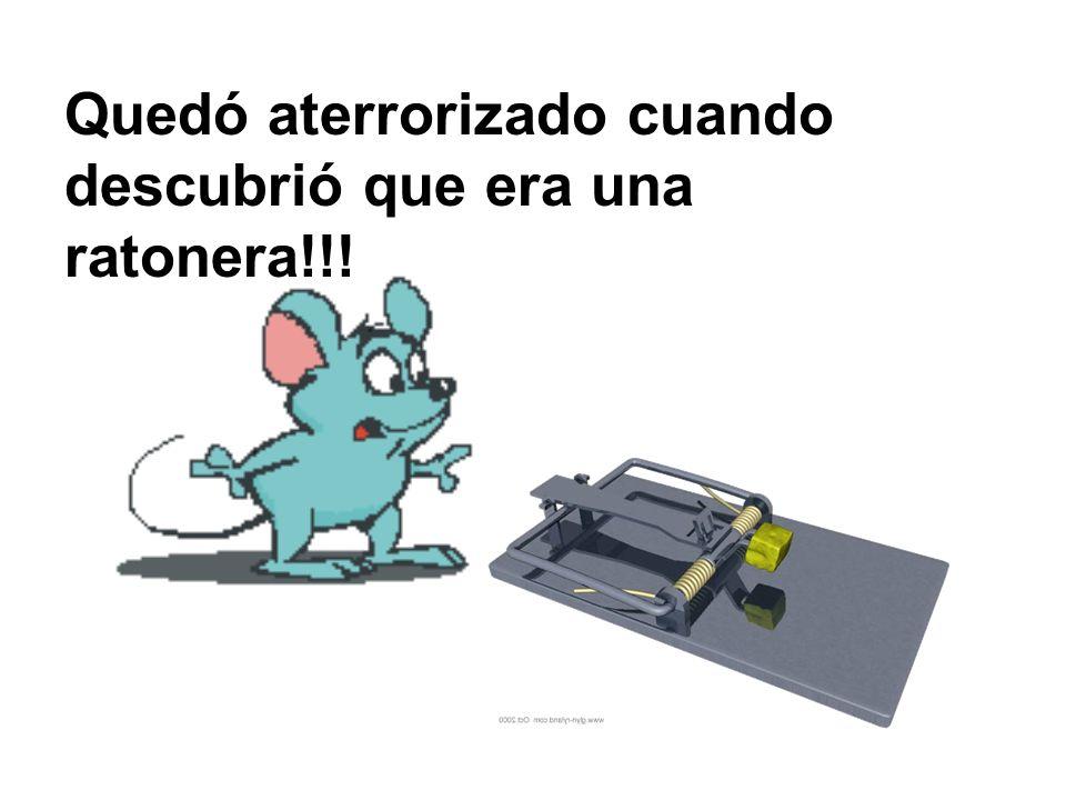 Fue corriendo al patio de la Granja a advertir a todos: Hay una ratonera en la casa, una ratonera en la casa!!!