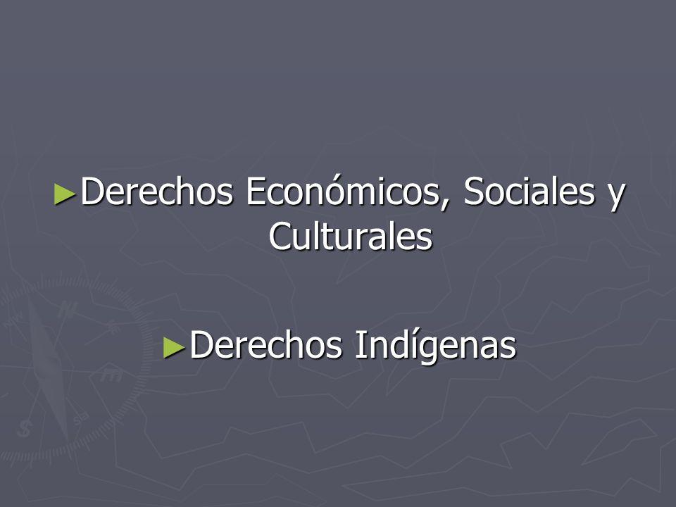 Derechos Económicos, Sociales y Culturales Derechos Económicos, Sociales y Culturales Derechos Indígenas Derechos Indígenas