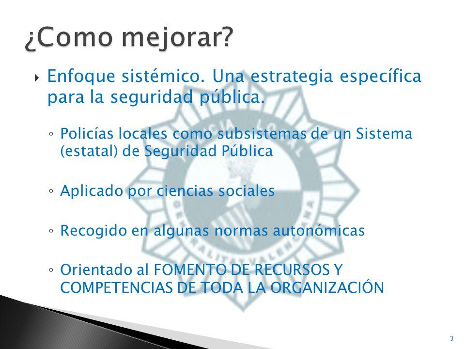 Asumir papel de POLICÍA DE PROXIMIDAD (Policía Orientada al Ciudadano) Cambio/adopción de nuevo paradigma No existe consenso sobre significado Atención especial a las mujeres por su mayor desprotección 4