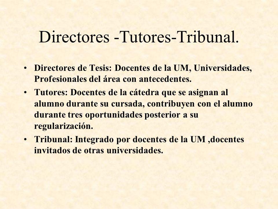 Directores -Tutores-Tribunal.