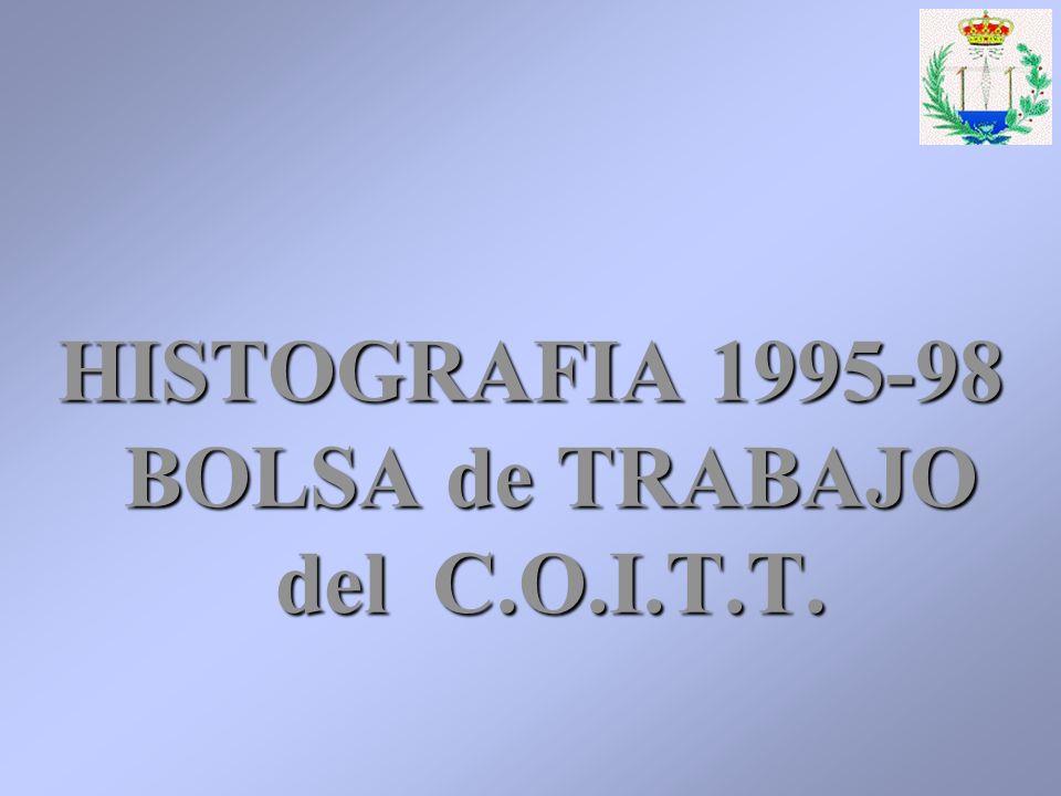 HISTOGRAFIA 1995-98 BOLSA de TRABAJO del C.O.I.T.T.