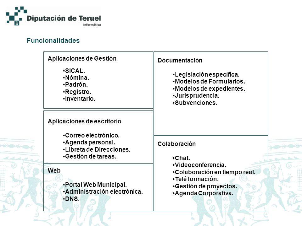 Funcionalidades Aplicaciones de Gestión SICAL. Nómina.