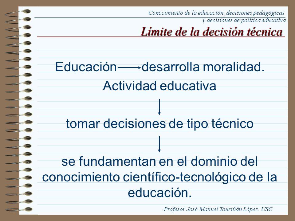 Educación desarrolla moralidad. Actividad educativa tomar decisiones de tipo técnico se fundamentan en el dominio del conocimiento científico-tecnológ