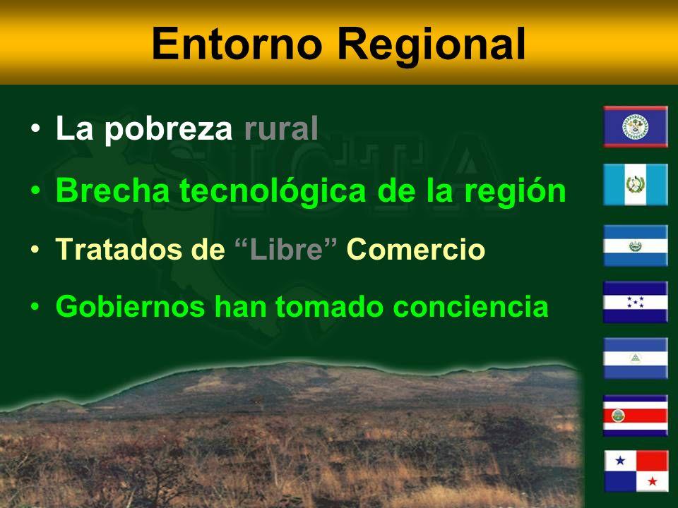 Entorno Regional La pobreza rural Brecha tecnológica de la región Tratados de Libre Comercio Gobiernos han tomado conciencia