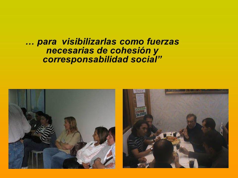 buscando con ello empoderar a las asociaciones y colectivos de personas inmigradas …