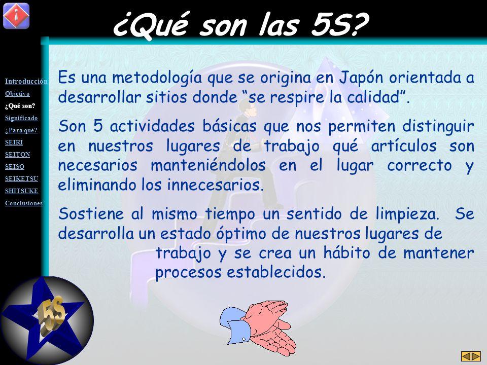 Es una metodología que se origina en Japón orientada a desarrollar sitios donde se respire la calidad.