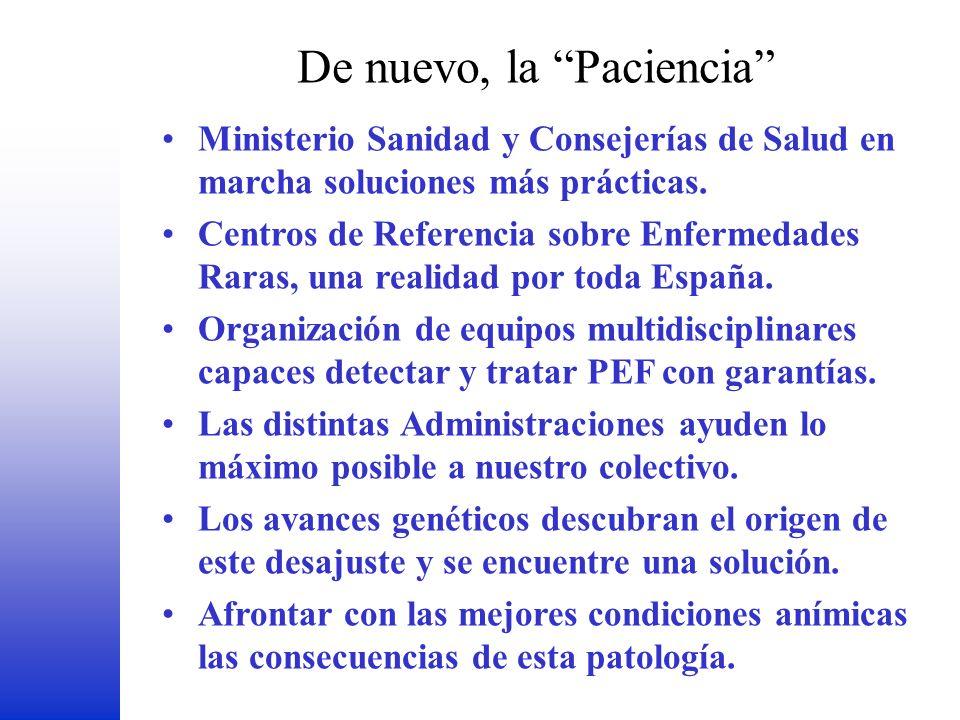De nuevo, la Paciencia FEDER Ministerio Sanidad y Consejerías de Salud en marcha soluciones más prácticas. Centros de Referencia sobre Enfermedades Ra