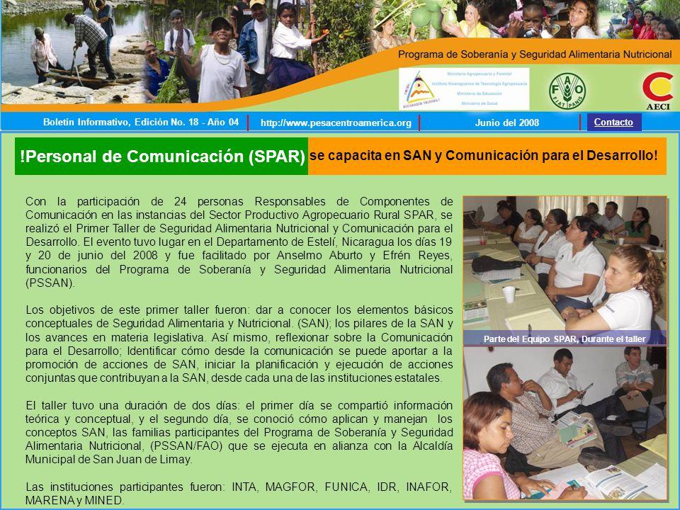 !Personal de Comunicación (SPAR) se capacita en SAN y Comunicación para el Desarrollo.