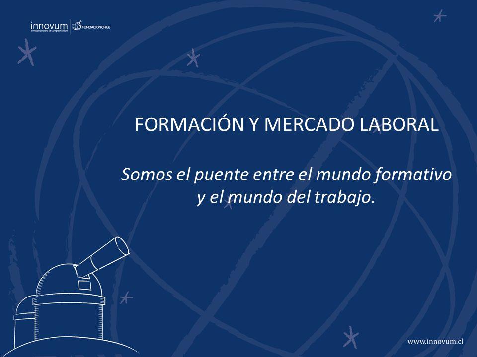 FORMACIÓN Y MERCADO LABORAL Somos el puente entre el mundo formativo y el mundo del trabajo.