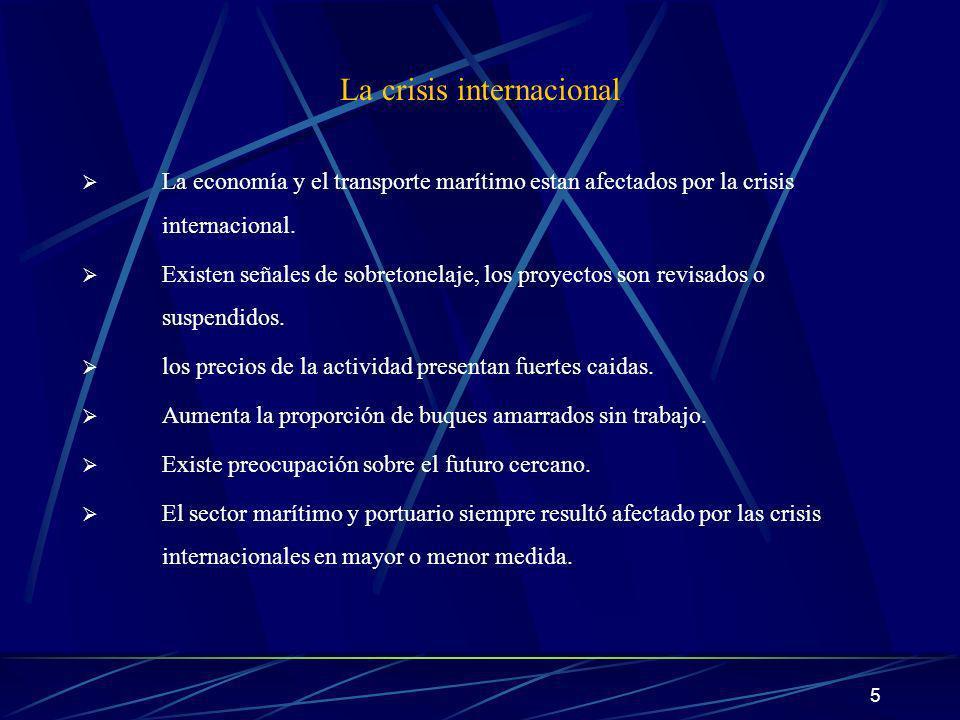6 El transporte marítimo y las crisis internacionales desde 1970 AÑOCRISISEFECTOS 19731ra.