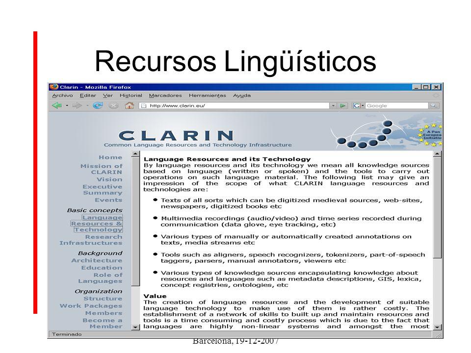 Clarin – ES Barcelona, 19-12-2007 Índice Objetivos de la Fase Preparatoria Organización en España Calendario Canales de comunicación
