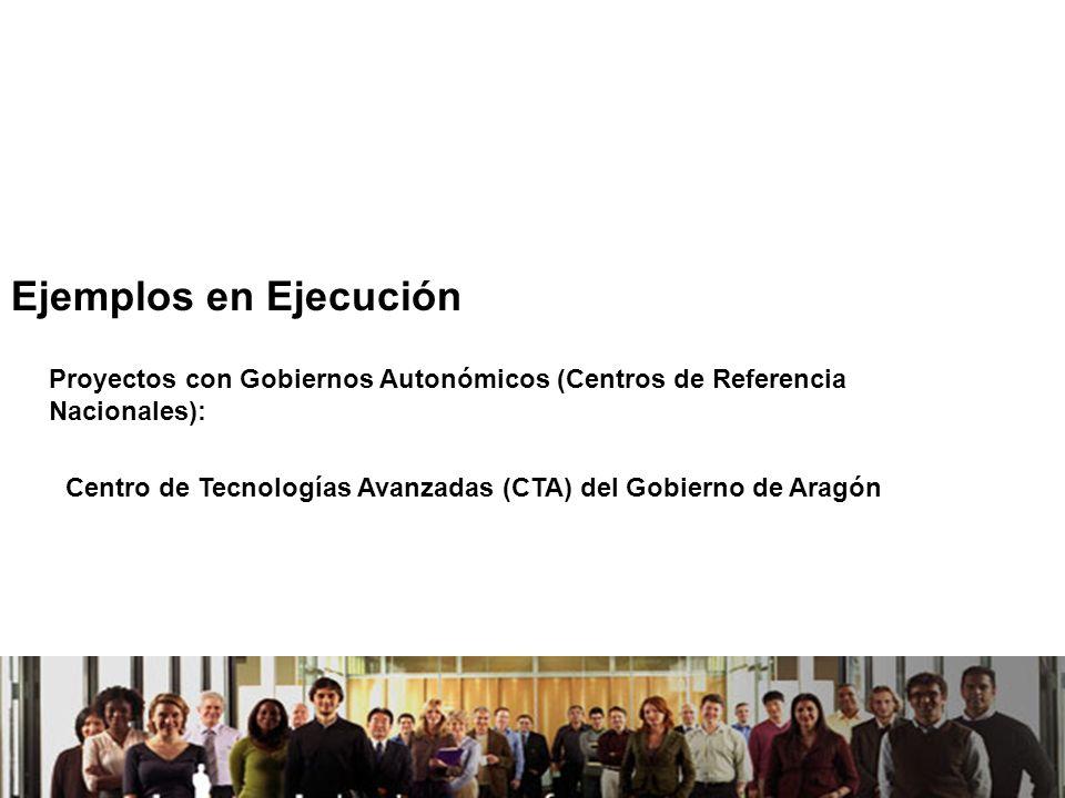 21/04/2014 Ejemplos en Ejecución Proyectos con Gobiernos Autonómicos (Centros de Referencia Nacionales): Centro de Tecnologías Avanzadas (CTA) del Gobierno de Aragón