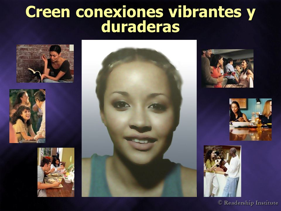 © Readership Institute Creen conexiones vibrantes y duraderas