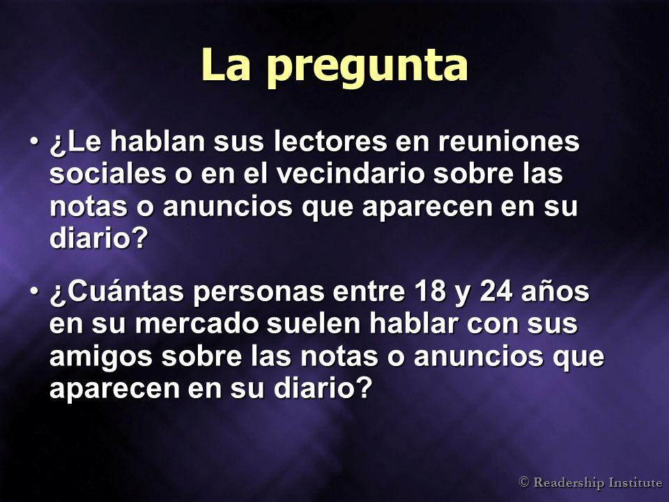 © Readership Institute Hispanos en EE.UU.