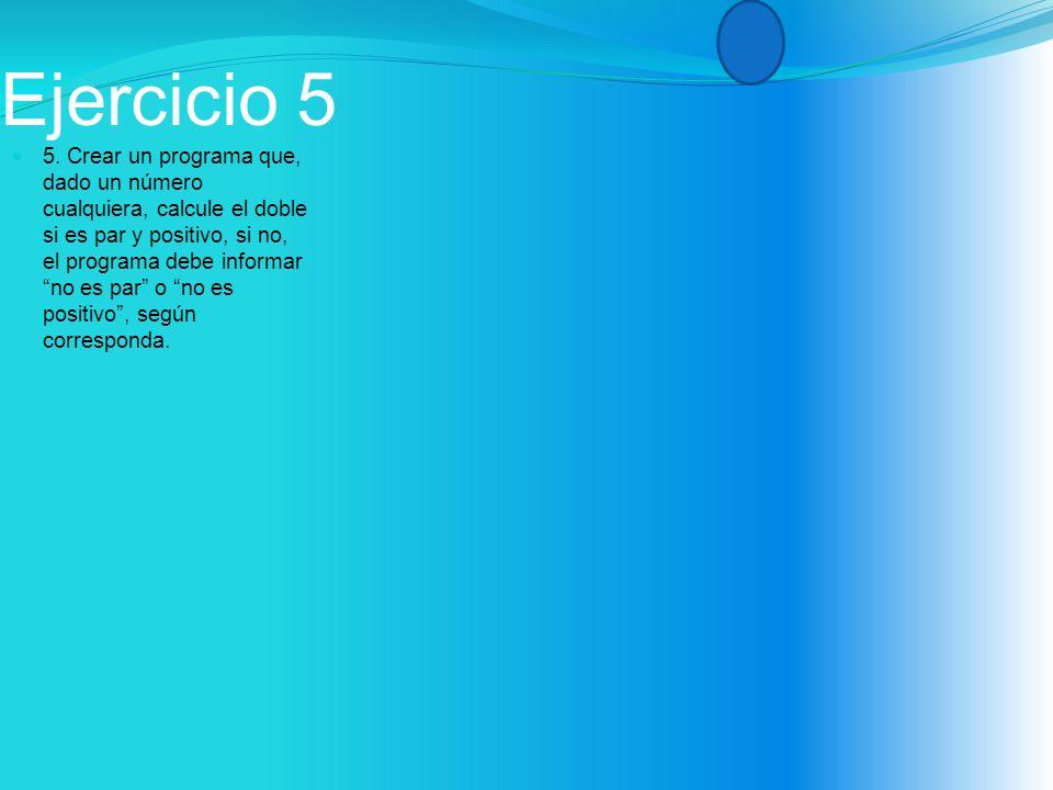 Ejercicio 5 5.