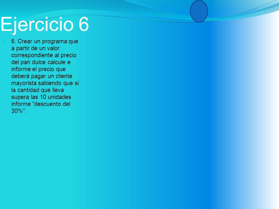 Ejercicio 6 6.