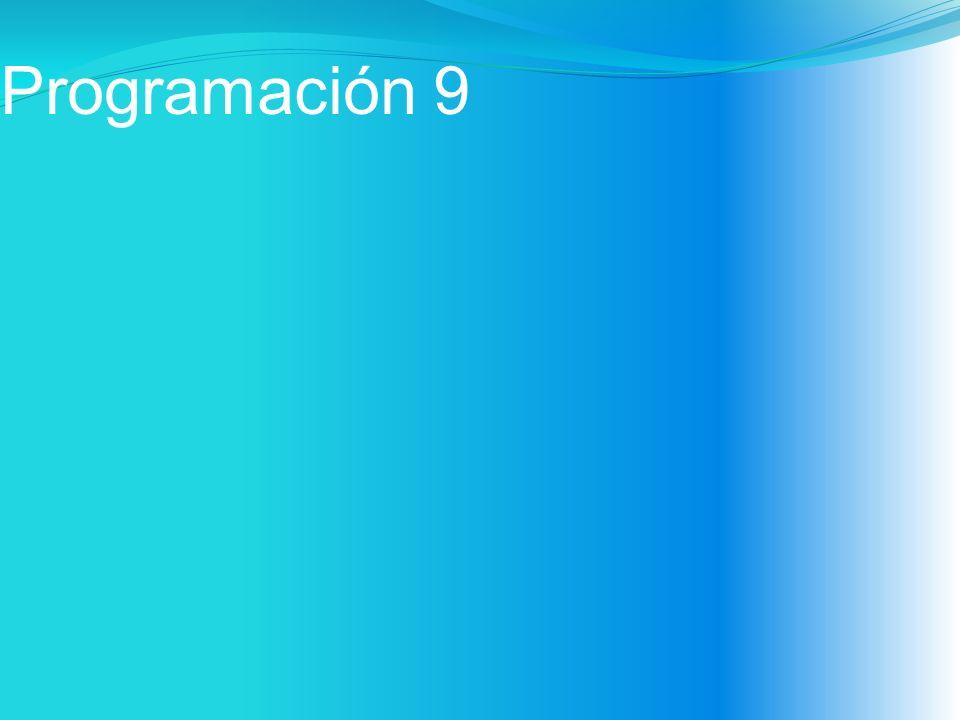 Programación 9