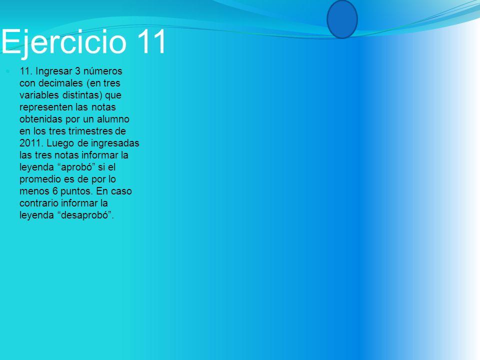 Ejercicio 11 11.