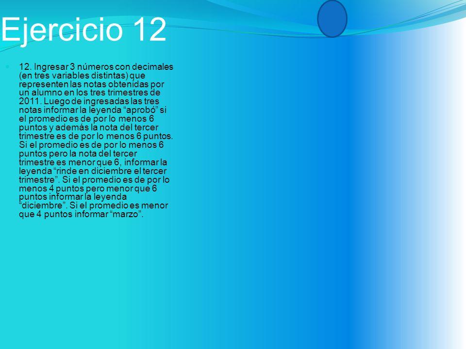 Ejercicio 12 12.