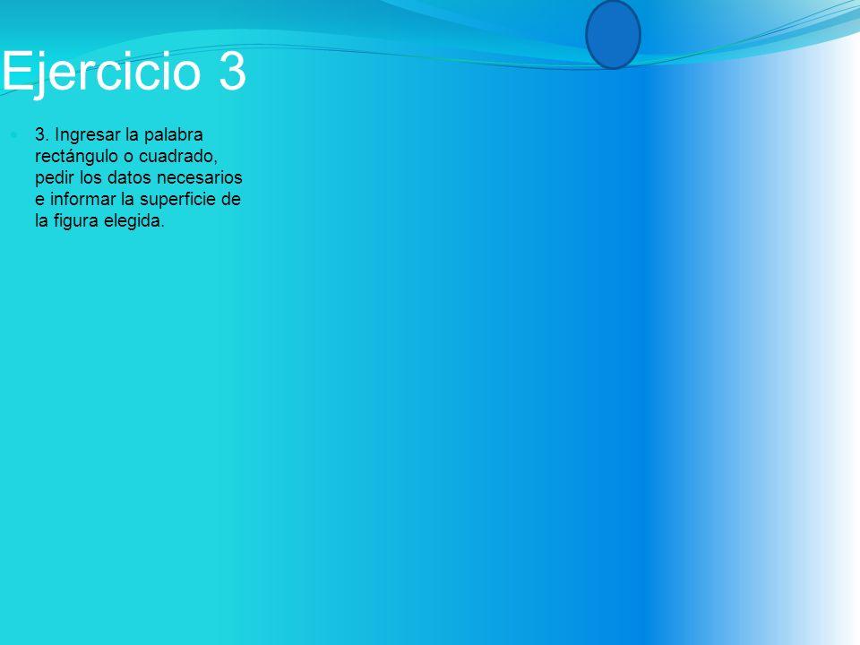 Ejercicio 3 3.