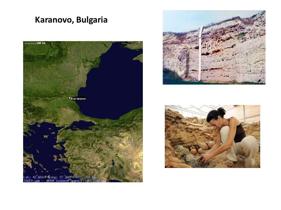 En el poblado de Karanovo se detectaron unas 18 casas lo que permite estimar entre 75 y 125 habitantes.