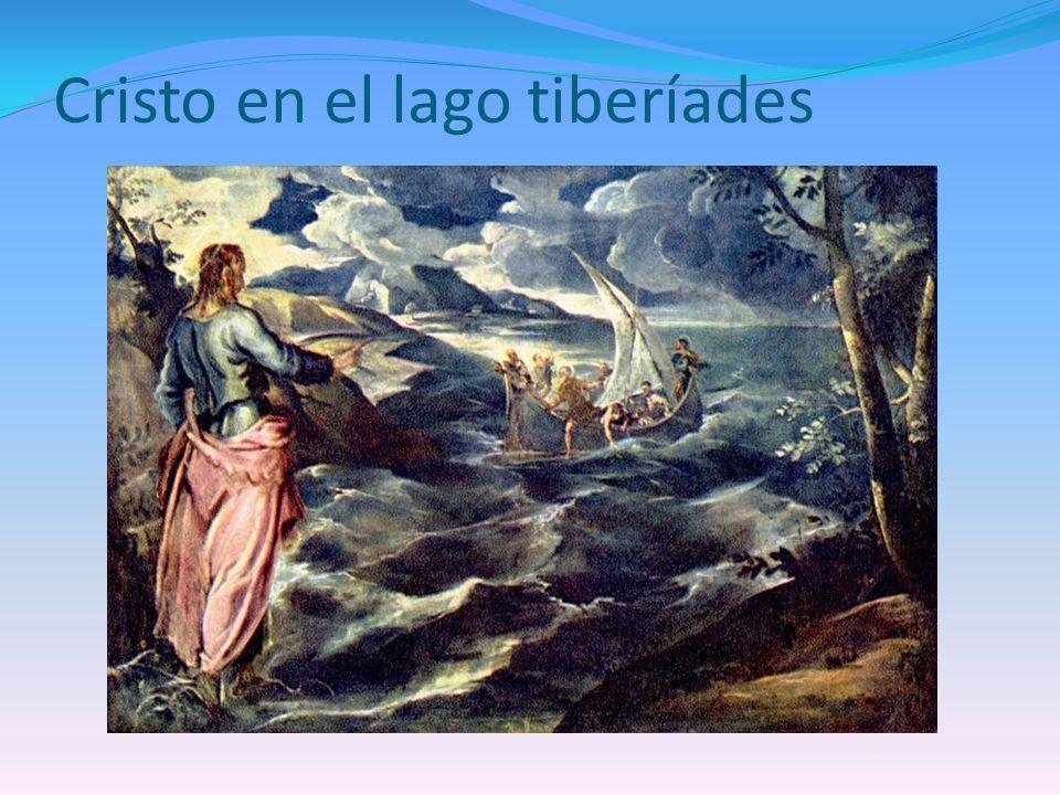 Cristo en el lago tiberíades