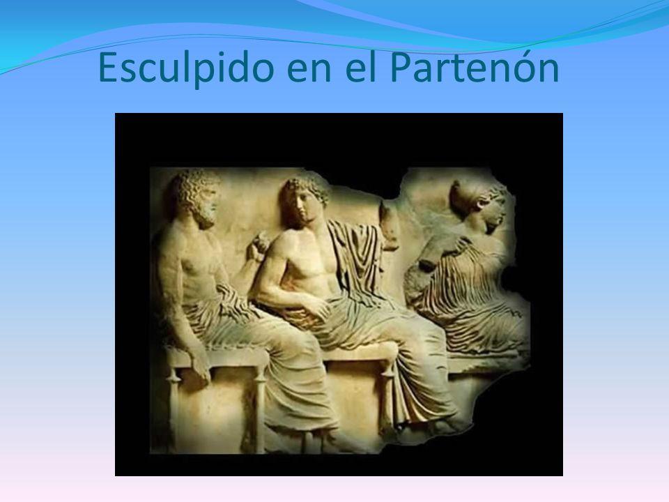 Esculpido en el Partenón