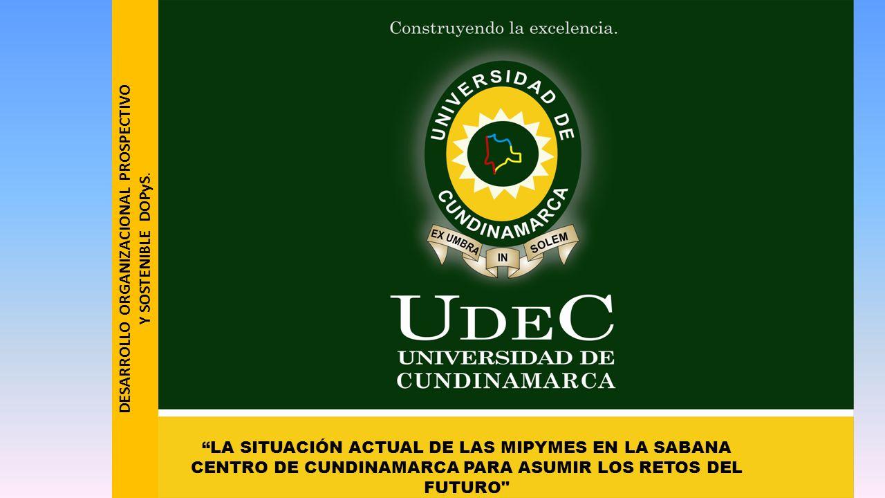 LA SITUACIÓN ACTUAL DE LAS MIPYMES EN LA SABANA CENTRO DE CUNDINAMARCA PARA ASUMIR LOS RETOS DEL FUTURO DESARROLLO ORGANIZACIONAL PROSPECTIVO Y SOSTENIBLE DOPyS.