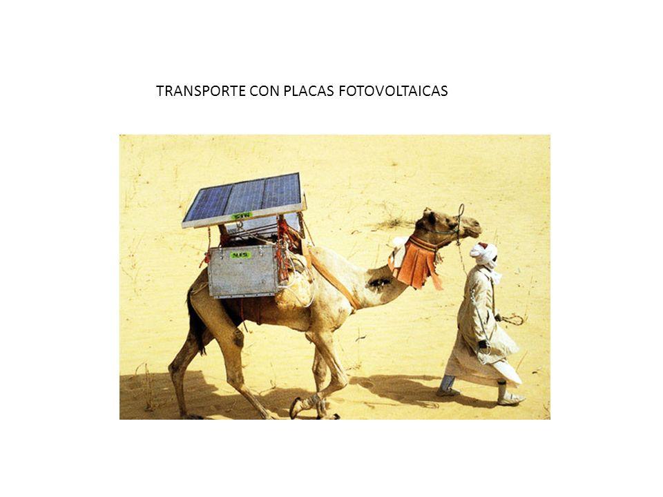 TRANSPORTE CON PLACAS FOTOVOLTAICAS