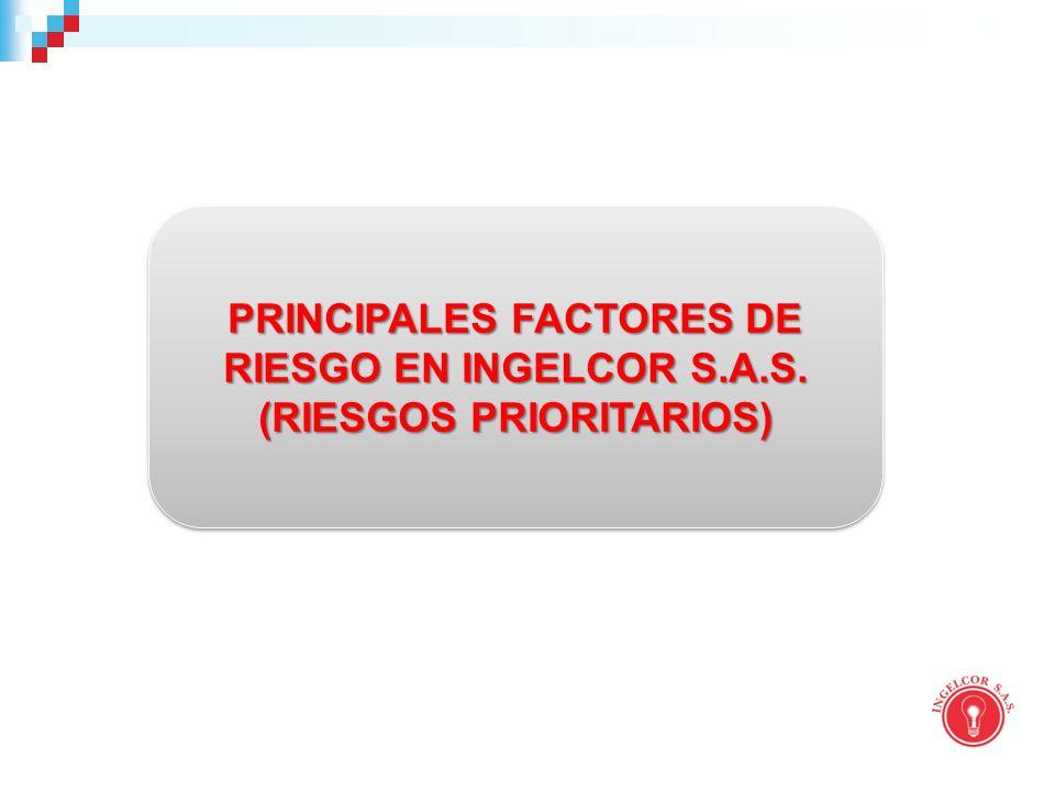PRINCIPALES FACTORES DE RIESGO EN INGELCOR S.A.S.
