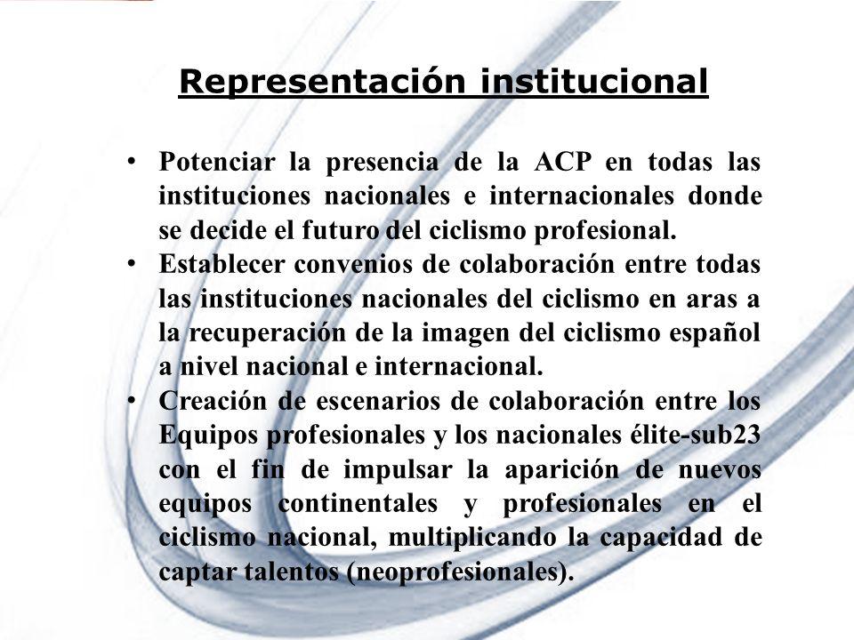 Page 10 Powerpoint Templates Representación institucional Potenciar la presencia de la ACP en todas las instituciones nacionales e internacionales don