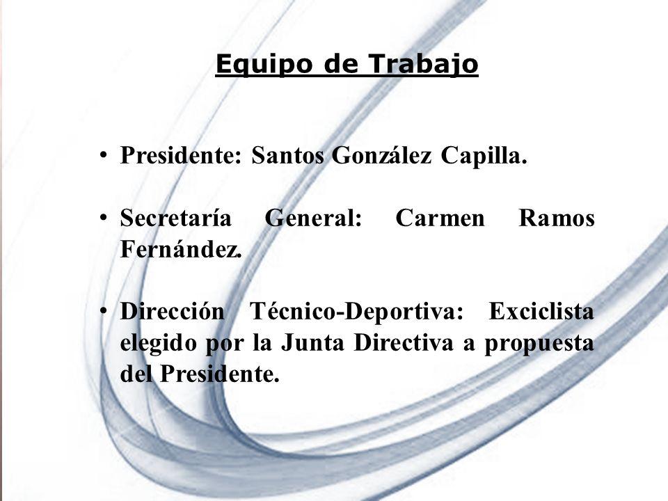 Page 2 Powerpoint Templates Equipo de Trabajo Presidente: Santos González Capilla. Secretaría General: Carmen Ramos Fernández. Dirección Técnico-Depor