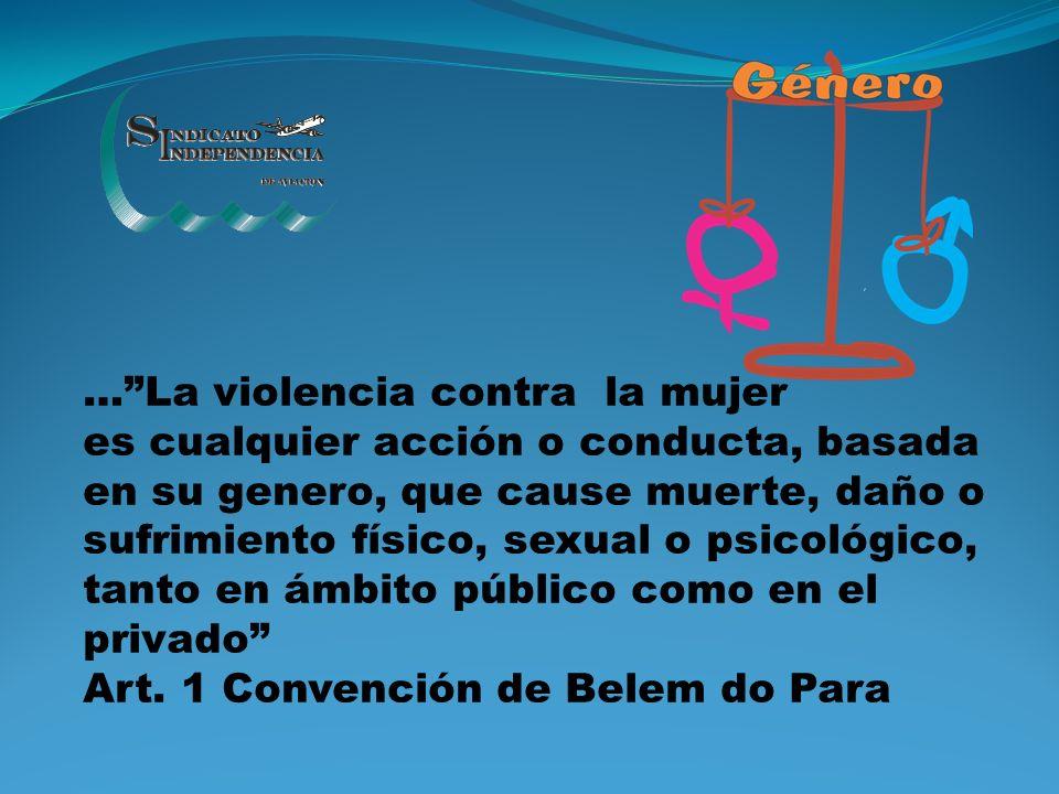…La violencia contra la mujer es cualquier acción o conducta, basada en su genero, que cause muerte, daño o sufrimiento físico, sexual o psicológico,