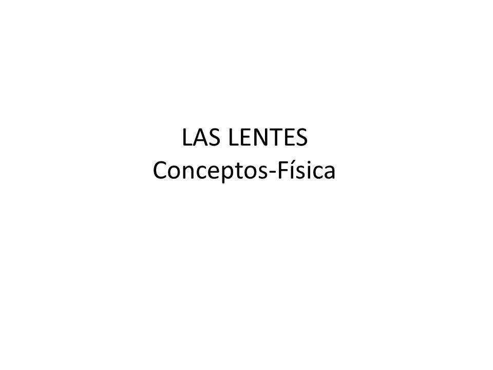 LAS LENTES Conceptos-Física