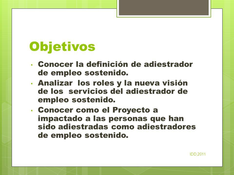 Estrategias organizacionales para apoyar empleo integrado La visión del patrono IDD,2011