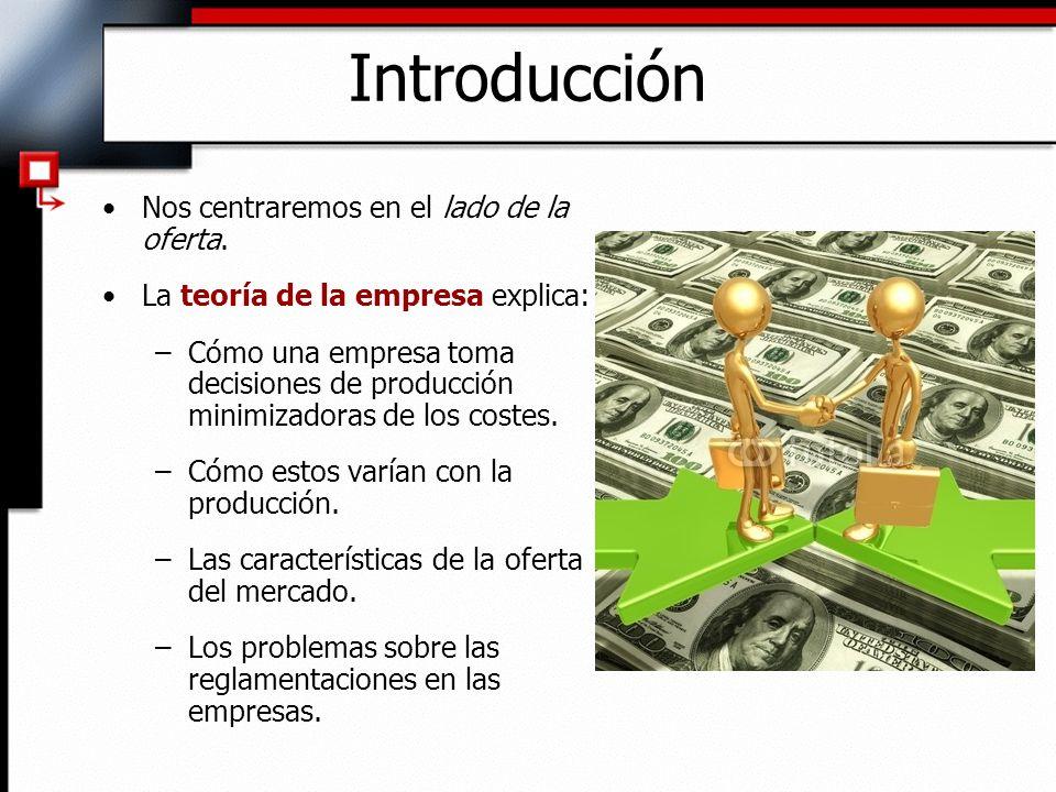 Tecnología de producción Función de producción: – El proceso de combinar los factores de producción para conseguir un producto.