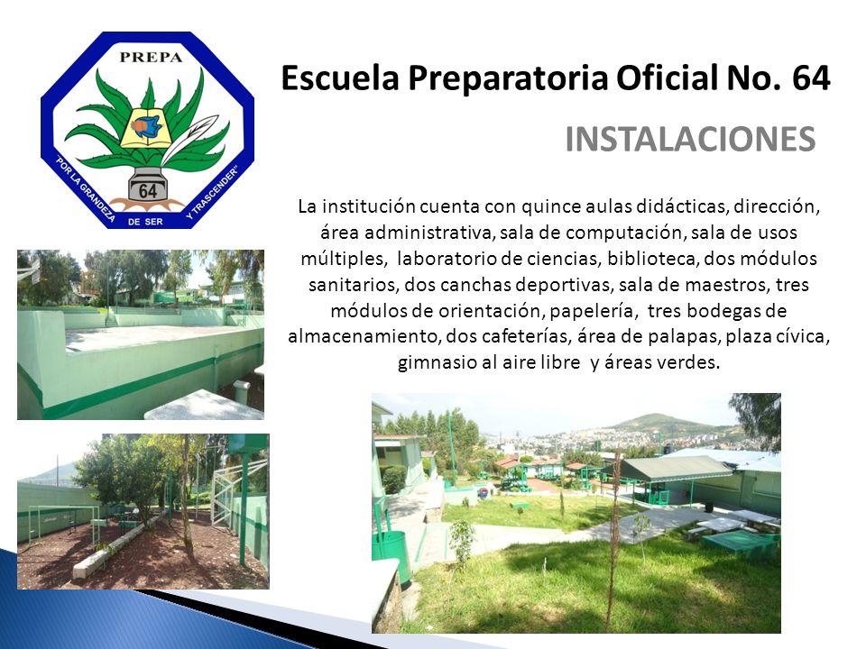 La institución cuenta con quince aulas didácticas, dirección, área administrativa, sala de computación, sala de usos múltiples, laboratorio de ciencia