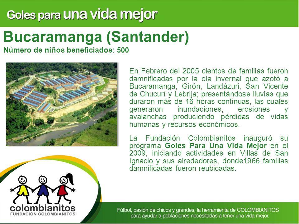 En Febrero del 2005 cientos de familias fueron damnificadas por la ola invernal que azotó a Bucaramanga, Girón, Landázuri, San Vicente de Chucurí y Le