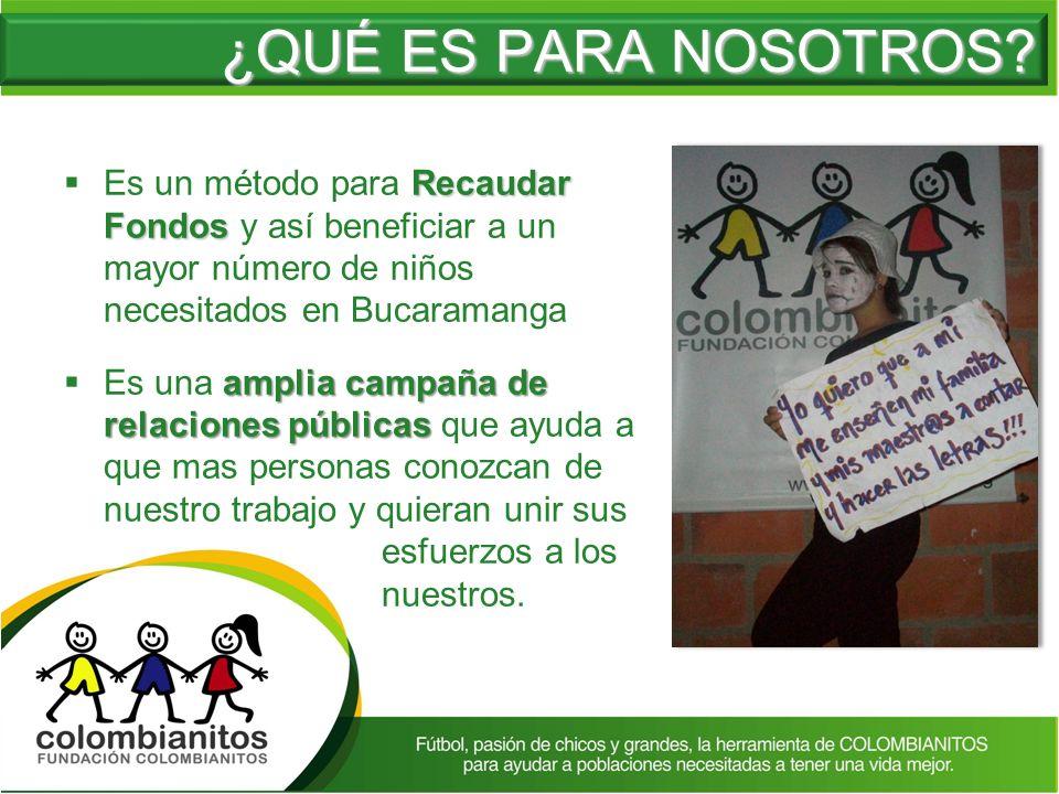 Recaudar Fondos Es un método para Recaudar Fondos y así beneficiar a un mayor número de niños necesitados en Bucaramanga amplia campaña de relaciones